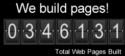 Total number of pages built to date by DirectorofSEO.com!